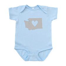 Heart Washington Infant Bodysuit