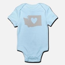 Heart Washington Infant Bodysuit