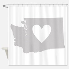 Heart Washington Shower Curtain