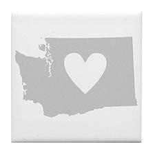 Heart Washington Tile Coaster