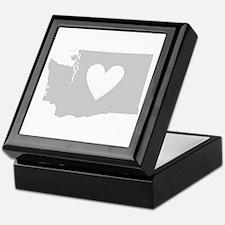 Heart Washington Keepsake Box