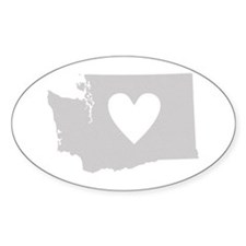 Heart Washington Decal
