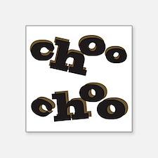 "Choo Choo Square Sticker 3"" x 3"""