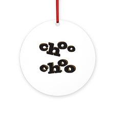 Choo Choo Round Ornament