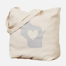 Heart Wisconsin Tote Bag