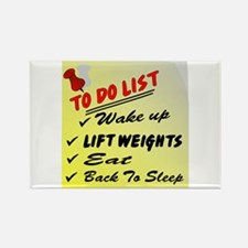 To Do List Lift Weights Rectangle Magnet