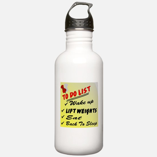 To Do List Lift Weights Water Bottle