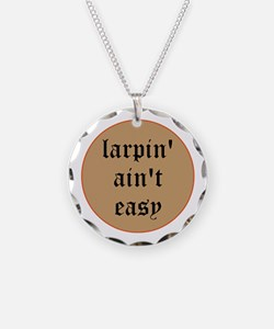larpin aint easy circle charm necklace
