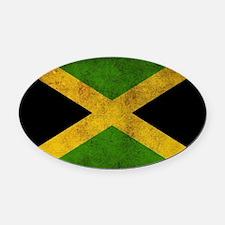 Jamaica Flag Oval Car Magnet