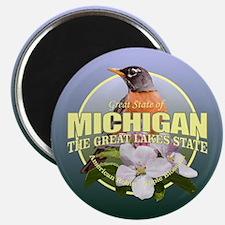 Michigan State Bird & Flower Magnets