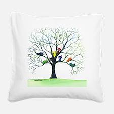 Eau Claire Stray Cats Square Canvas Pillow