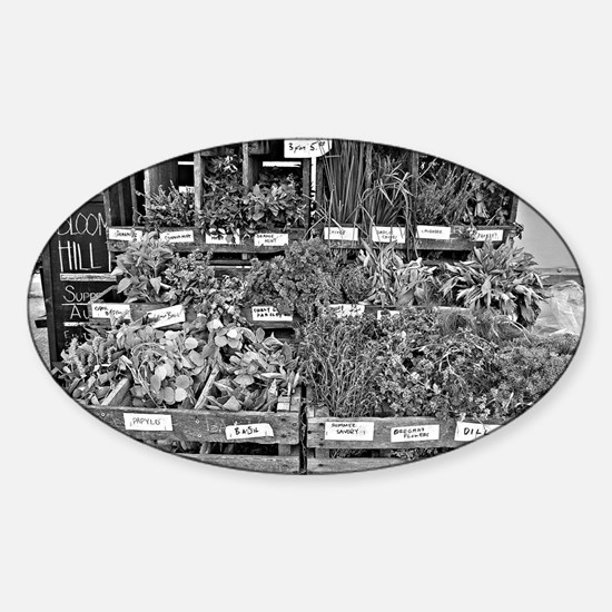Herb Market Sticker (Oval)