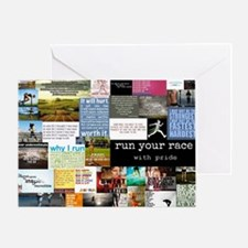 Running College Greeting Card