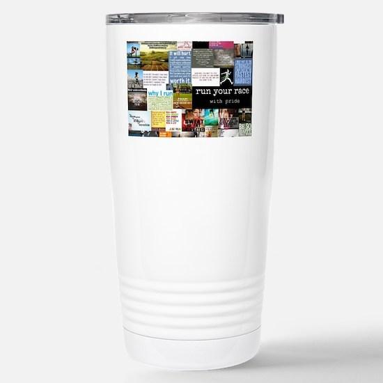 Running College Stainless Steel Travel Mug