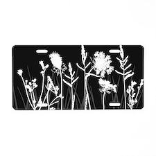 Elegant Grass Silhouette Al Aluminum License Plate