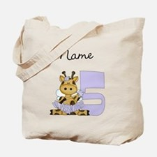 Ballerina Fairy Giraffe 5 Tote Bag