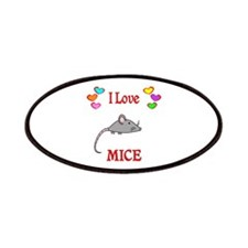 I Love Mice Patches