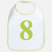 8 Green Polka Dots Pattern Bib