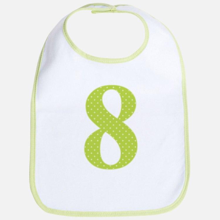 8 Green Polka Dots Pattern Bib