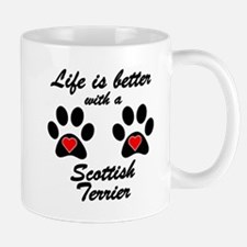 Life Is Better With A Scottish Terrier Small Mug