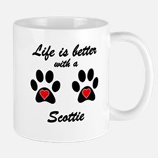 Life Is Better With A Scottie Small Mug