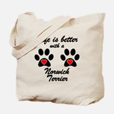 Life Is Better With A Norwich Terrier Tote Bag