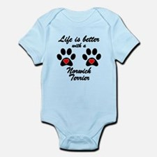 Life Is Better With A Norwich Terrier Body Suit