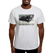 BlackCatsNeedLove3 T-Shirt