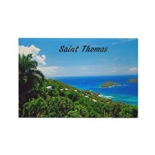 St. Thomas Rectangle Magnet