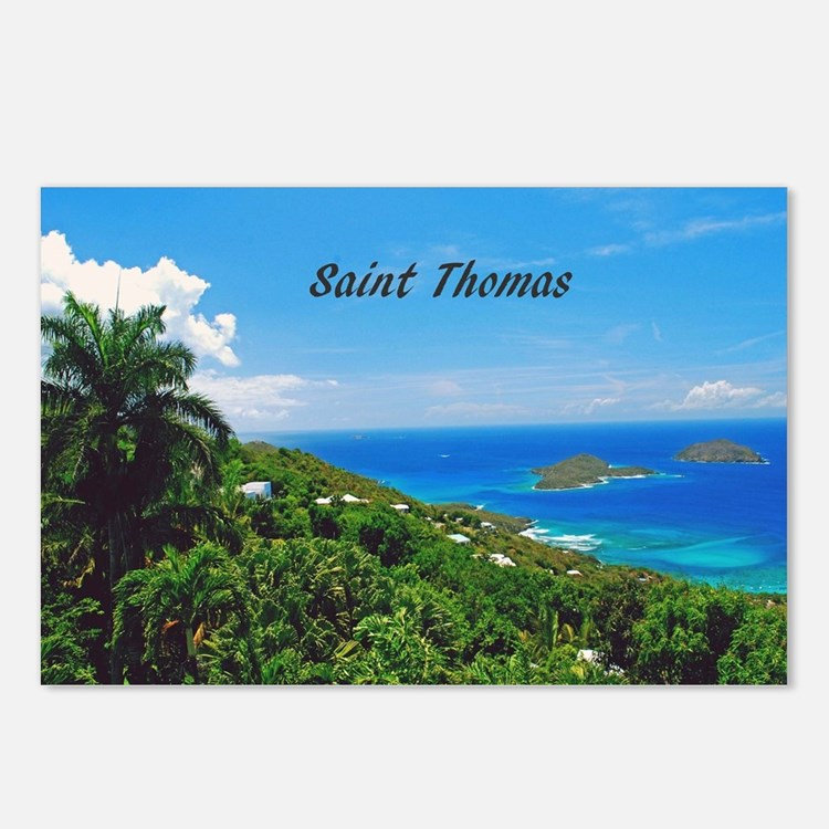St. Thomas Postcards (Package of 8)