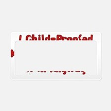 Child-Proofed Home License Plate Holder