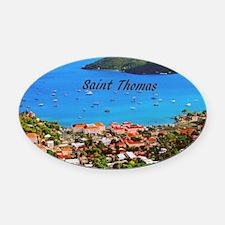 Saint Thomas Oval Car Magnet