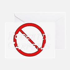 No Carpet Rats Greeting Card