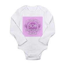 30th Birthday For Mom (Floral) Long Sleeve Infant