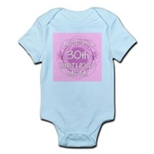 30th Birthday For Mom (Floral) Infant Bodysuit