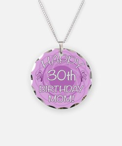 30th Birthday For Mom (Floral) Necklace