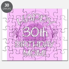 30th Birthday For Mom (Floral) Puzzle