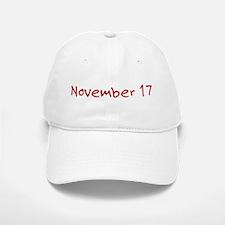 November 17 Baseball Baseball Cap