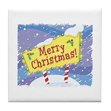Merry Christmas Snow Day! Tile Coaster
