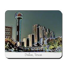 Dallas in Neon - Mousepad