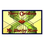 Starchy Miser Christmas Rectangle Sticker