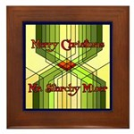 Starchy Miser Christmas Framed Tile