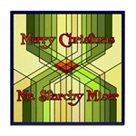 Starchy Miser Christmas Tile Coaster