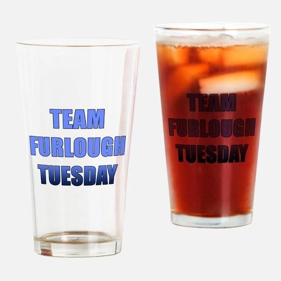 Team Furlough Tuesday Drinking Glass