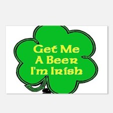 Get Me A Beer I'm Irish Postcards (Package of 8)