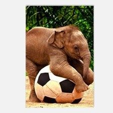 Elephant Plays Soccer Postcards (Package of 8)