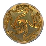 Faberge's Jewels - Yellow Round Car Magnet