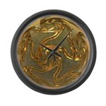 Faberge's Jewels - Yellow Large Wall Clock