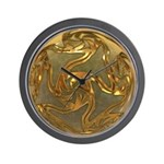 Faberge's Jewels - Yellow Wall Clock