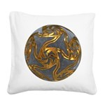 Faberge's Jewels - Grey Square Canvas Pillow